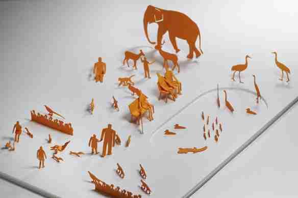 1/100 Mini Architectural Model: The Zoo